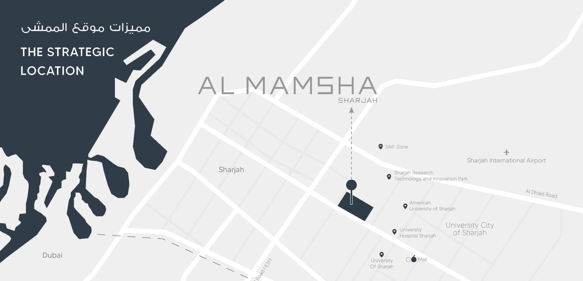 location map al mamsha alef group
